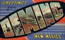 LLT100924 - Deming, New Mexico Large Letter Town Towns Post Cards Postcards