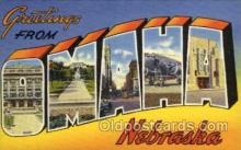 LLT100925 - Omaha, Nebraska Large Letter Town Towns Post Cards Postcards