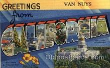 LLT100928 - Van Nuys, California Large Letter Town Towns Post Cards Postcards