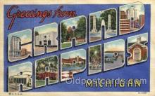 LLT100930 - Grand Rapids, Michigan Large Letter Town Towns Post Cards Postcards