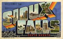 LLT100933 - Sioux Falls, South Dakota Large Letter Town Towns Post Cards Postcards