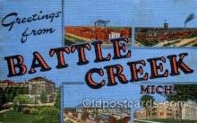 LLT100935 - Battle Creek, Michigan Large Letter Town Towns Post Cards Postcards
