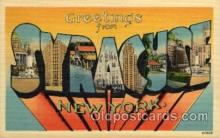 LLT100937 - Syracuse, New York Large Letter Town Towns Post Cards Postcards