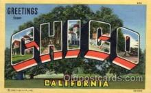 LLT100938 - Chico, California Large Letter Town Towns Post Cards Postcards