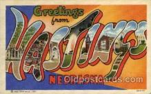 LLT100940 - Hastings, Nebraska Large Letter Town Towns Post Cards Postcards