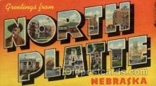 LLT100943 - North Platte, Nebraska Large Letter Town Towns Post Cards Postcards