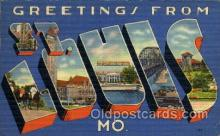 LLT100944 - St. Louis, Missouri Large Letter Town Towns Post Cards Postcards