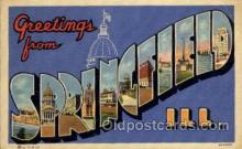 LLT100945 - Springfield, Illinois Large Letter Town Towns Post Cards Postcards