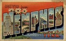 LLT100946 - Memphis, Tennessee Large Letter Town Towns Post Cards Postcards