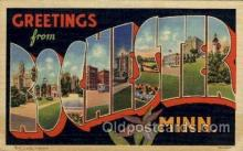 LLT100947 - Rochester, Minnesota Large Letter Town Towns Post Cards Postcards