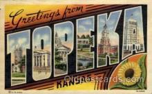LLT100948 - Topeka, Kansas Large Letter Town Towns Post Cards Postcards