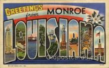 LLT100949 - Monroe, Louisiana Large Letter Town Towns Post Cards Postcards