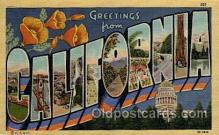 LLT100951 - California Large Letter Town Towns Post Cards Postcards