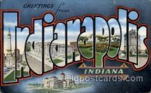 LLT100953 - Indianapolis, Indiana Large Letter Town Towns Post Cards Postcards