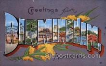 LLT100959 - Birmingham, Alabama Large Letter Town Towns Post Cards Postcards