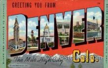LLT100963 - Denver, Colorado Large Letter Town Towns Post Cards Postcards