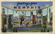 LLT100966 - Memphis, Tennessee Large Letter Town Towns Post Cards Postcards