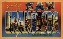 LLT100967 - San Francisco, California Large Letter Town Towns Post Cards Postcards