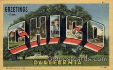 LLT100968 - Chico, California Large Letter Town Towns Post Cards Postcards