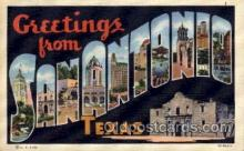 LLT100969 - San Antonio, Texas Large Letter Town Towns Post Cards Postcards