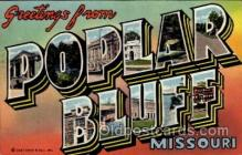 LLT100970 - Poplar Bluff, Missouri Large Letter Town Towns Post Cards Postcards