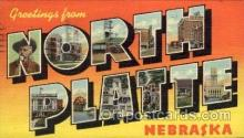 LLT100971 - North Platte, Nebraska Large Letter Town Towns Post Cards Postcards