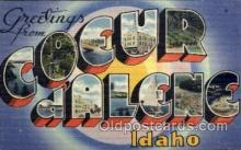 LLT100973 - Coeur Dalene, Idaho Large Letter Town Towns Post Cards Postcards
