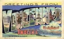 LLT100974 - Vincennes, Indiana Large Letter Town Towns Post Cards Postcards