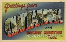 LLT100975 - Chattanooga, Tennessee Large Letter Town Towns Post Cards Postcards