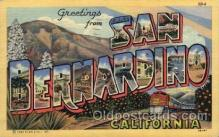 LLT100976 - San Bernardino, California Large Letter Town Towns Post Cards Postcards
