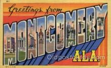 LLT100978 - Montgomery, Alabama Large Letter Town Towns Post Cards Postcards