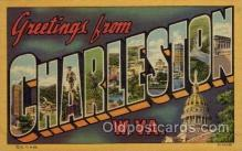LLT100981 - Charleston, West Virginia Large Letter Town Towns Post Cards Postcards