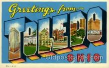 LLT100983 - Toledo, Ohio Large Letter Town Towns Post Cards Postcards