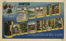 LLT100984 - Sumter, South Carolina Large Letter Town Towns Post Cards Postcards