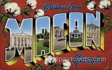 LLT100989 - Macon, Georgia Large Letter Town Towns Post Cards Postcards