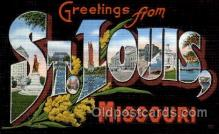 LLT100994 - St. Louis, Missouri Large Letter Town Towns Post Cards Postcards