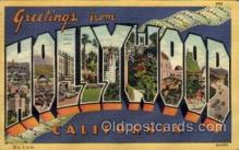 LLT100997 - Hollywood, California Large Letter Town Towns Post Cards Postcards