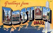 LLT100998 - Boston, Massachusetts Large Letter Town Towns Post Cards Postcards