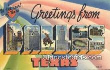 LLT200001 - Dallas, Texas, USA Large Letter Town Postcard Post Card Old Vintage Antique