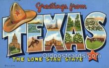 LLT200005 - Texas, TX, USA Large Letter Town Postcard Post Card Old Vintage Antique