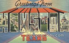 LLT200006 - Houston, Texas, USA Large Letter Town Postcard Post Card Old Vintage Antique