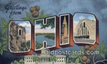 LLT200009 - Ohio, OH, USA Large Letter Town Postcard Post Card Old Vintage Antique