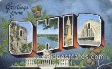 LLT200010 - Ohio, OH, USA Large Letter Town Postcard Post Card Old Vintage Antique
