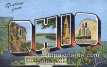 LLT200012 - Ohio, OH, USA Large Letter Town Postcard Post Card Old Vintage Antique