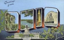 LLT200013 - Ohio, OH, USA Large Letter Town Postcard Post Card Old Vintage Antique