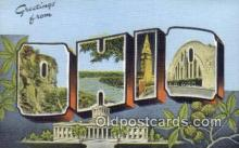 LLT200014 - Ohio, OH, USA Large Letter Town Postcard Post Card Old Vintage Antique