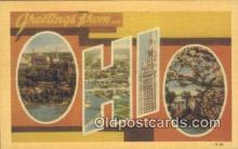 LLT200017 - Ohio, OH, USA Large Letter Town Postcard Post Card Old Vintage Antique