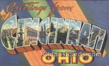 LLT200022 - Cincinnati, Ohio, USA Large Letter Town Postcard Post Card Old Vintage Antique