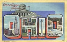 LLT200028 - Ohio, OH, USA Large Letter Town Postcard Post Card Old Vintage Antique