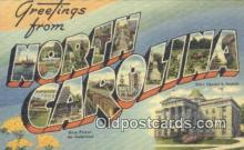LLT200030 - North Carolina, USA Large Letter Town Postcard Post Card Old Vintage Antique